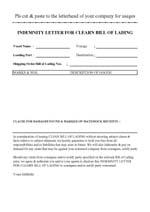 Company profile letter of indemnity form altavistaventures Images